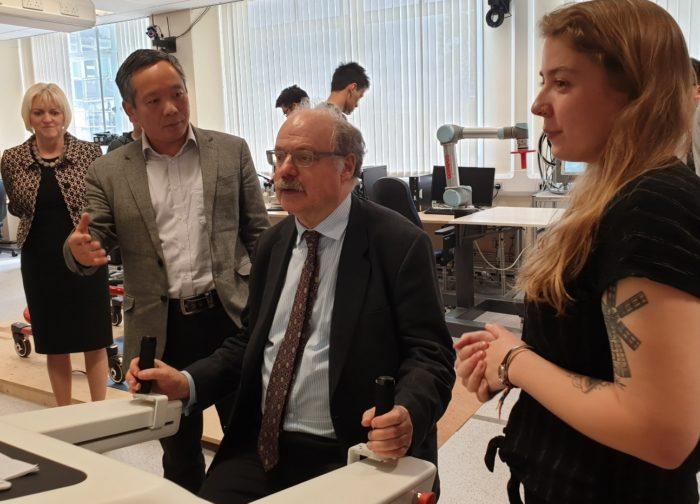 Prof Sir Mark Walport Visits Robotics at Leeds